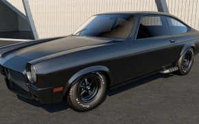 Black Chevrolet Vega wallpaper