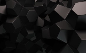 3D Black Polygons wallpaper
