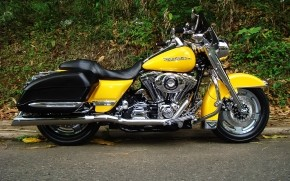 Harley Davidson Road King Yellow wallpaper