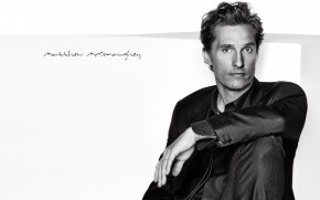 Matthew McConaughey Black and White wallpaper
