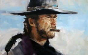 Clint Eastwood Painting wallpaper