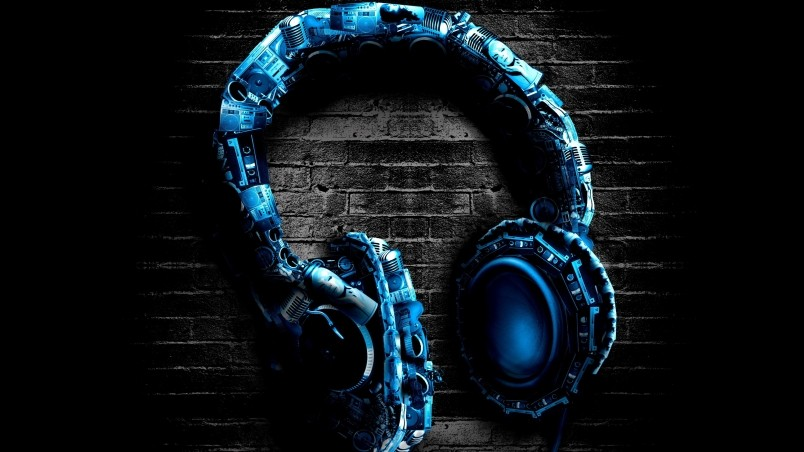 Abstract Headphones wallpaper