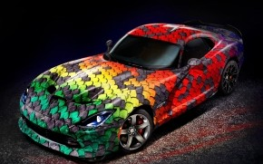 Dodge Viper Snake Skin wallpaper