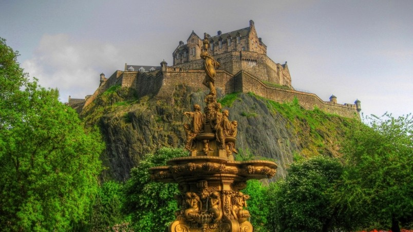 Edinburgh Castle Scotland Hd Wallpaper Wallpaperfx