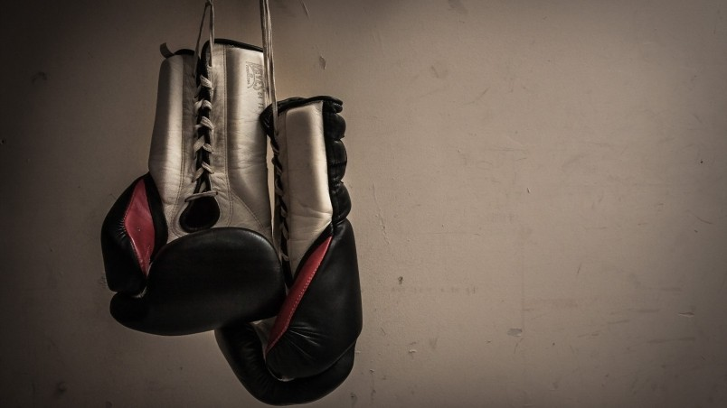 Boxing Gloves Hanging Hd Wallpaper Wallpaperfx