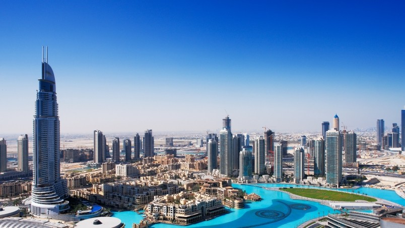 Dubai overview hd wallpaper wallpaperfx for Home wallpaper uae