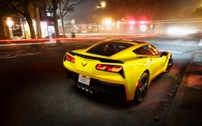Yellow Chevrolet Corvette Stingray  wallpaper