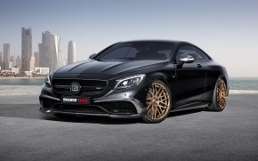 Black Mercedes Benz S63 AMG Brabus  wallpaper