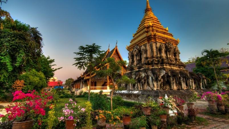 Wat Chiang Man Thailand Hd Wallpaper Wallpaperfx