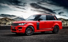 Red Startech Range Rover Pickup wallpaper