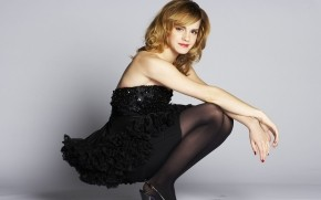 Emma Watson Black Dress wallpaper