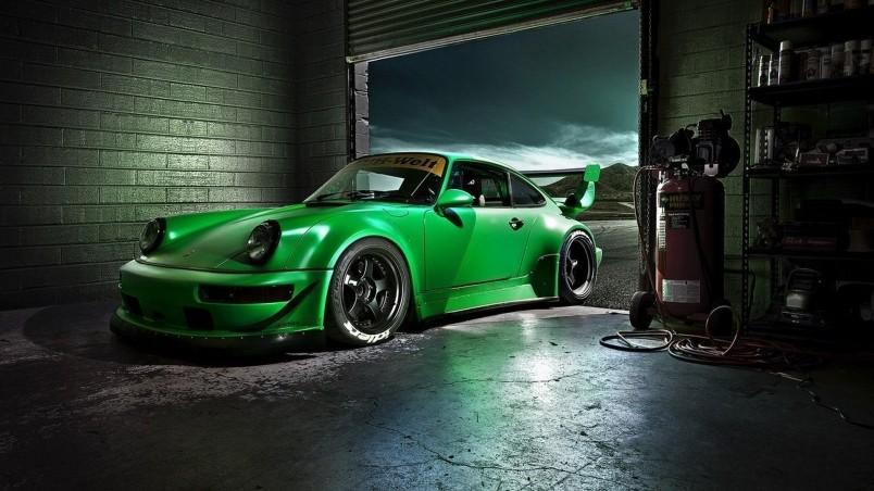 Green Porsche Carrera Hd Wallpaper Wallpaperfx