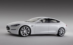 White Tesla Model S wallpaper