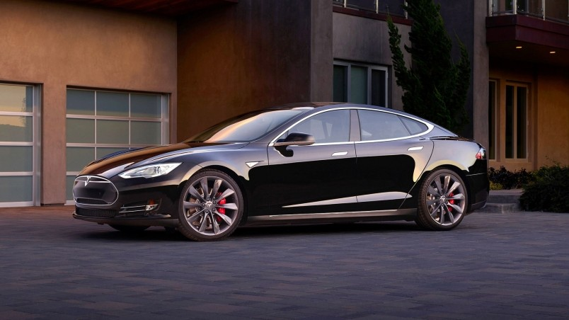 Black Tesla Model S Dual Motor wallpaper