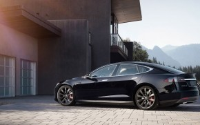 Black Tesla Model S 2015 wallpaper