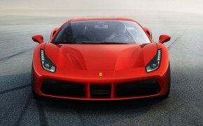 Ferrari 488 GTB Front View wallpaper