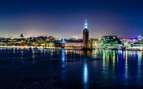 Stockholm Night View wallpaper