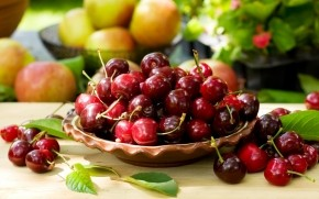 Bowl of Cherries wallpaper