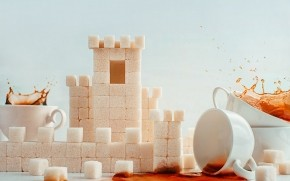 Sugar Cubes and Coffee Cups wallpaper