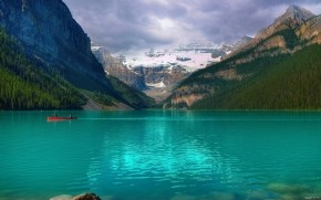 Emerald Lake Louise Canada wallpaper