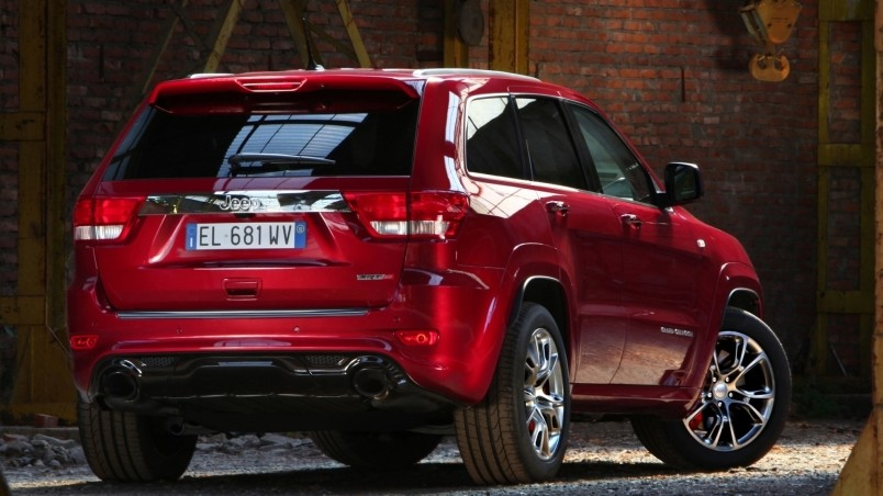Jeep Grand Cherokee Back View wallpaper