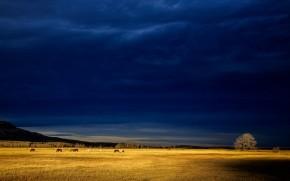 Dark Blue Storm Clouds