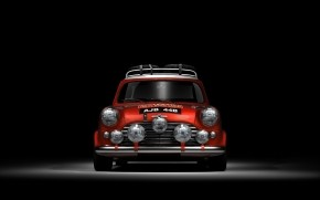 Red Mini Cooper  wallpaper