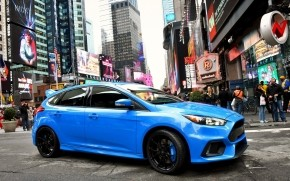 Blue Ford Focus RS 2015  wallpaper