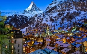 Zermatt Valley Switzerland wallpaper