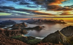 Lofoten Islands Sunset wallpaper