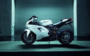 White Ducati 1198 wallpaper