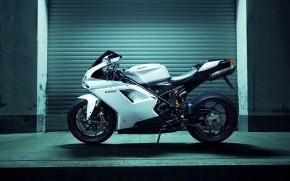 White Ducati 1198