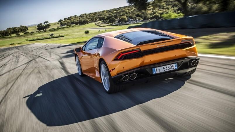 Orange Lamborghini Huracan Hd Wallpaper Wallpaperfx