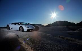 Lamborghini Huracan Sunset