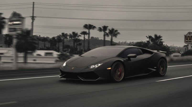Dark Lamborghini Huracan Hd Wallpaper Wallpaperfx