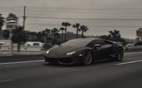 Dark Lamborghini Huracan wallpaper