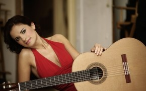 Ana Vidovic Guitar Pose wallpaper