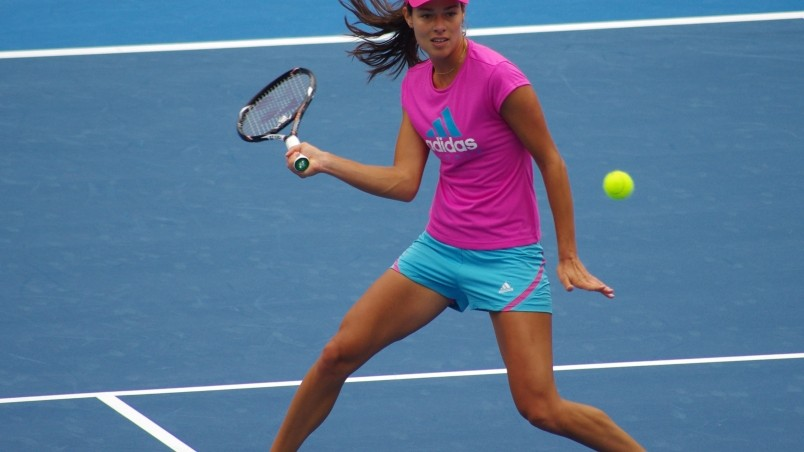 Ana Ivanovic Practicing wallpaper