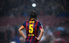 Carles Puyol Rain wallpaper