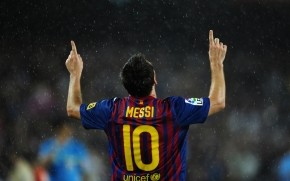 Lionel Messi in Rain wallpaper