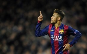 Neymar da Silva Celebrating wallpaper