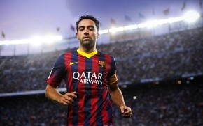 Xavi on Stadium wallpaper
