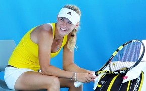 Laughing Caroline Wozniacki wallpaper