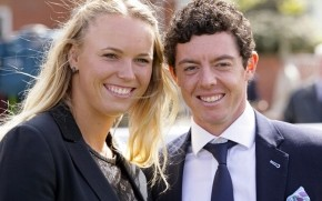 Caroline Wozniacki and Rory McIlroy wallpaper