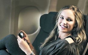 Caroline Wozniacki Airplane wallpaper