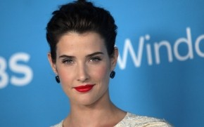 Cobie Smulders Red Lips wallpaper