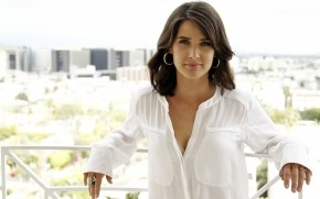 White Cobie Smulders wallpaper