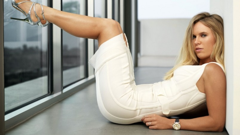 Caroline Wozniacki White Dress wallpaper