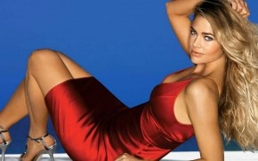 Denise Richards Red Dress wallpaper