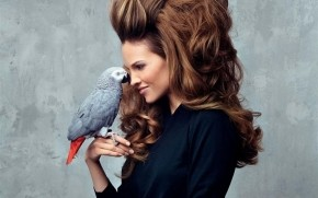 Hilary Swank Parrot wallpaper